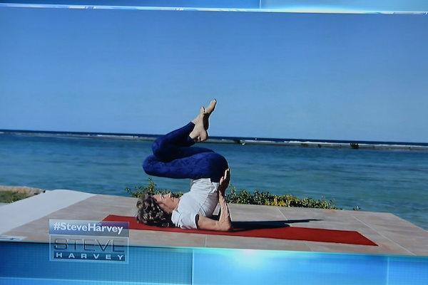 96-year-old yoga master Tao Porchon-Lynch on the Steve Harvey Show