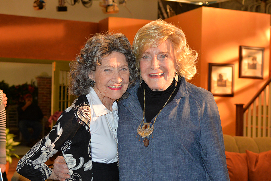 96-year-old Yoga Master Tao Portion-Lynch and 93-year-old TV Host Suzanne Roberts