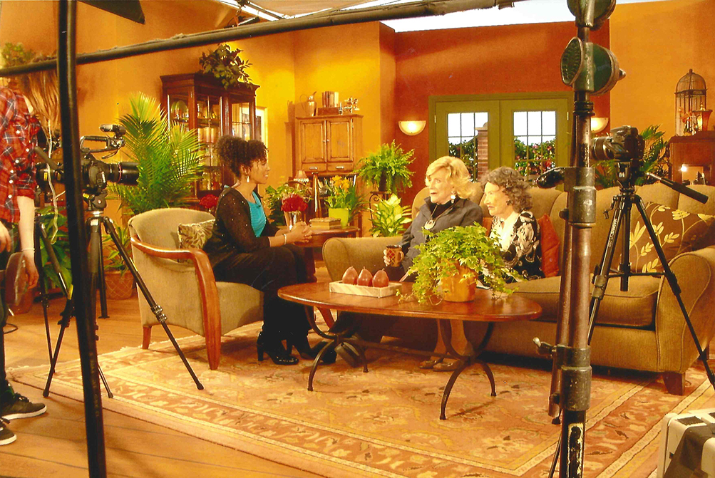 Teresa Kay-Aba Kennedy interviewing 93-year-old TV Host & Philanthropist and 96-year-old Yoga Master Tao Porchon-Lynch