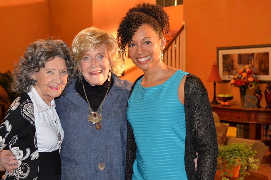 96-year-old Yoga Master Tao Porchon-Lynch, 93-year-old TV Host Suzanne Roberts and Teresa Kay-Aba Kennedy