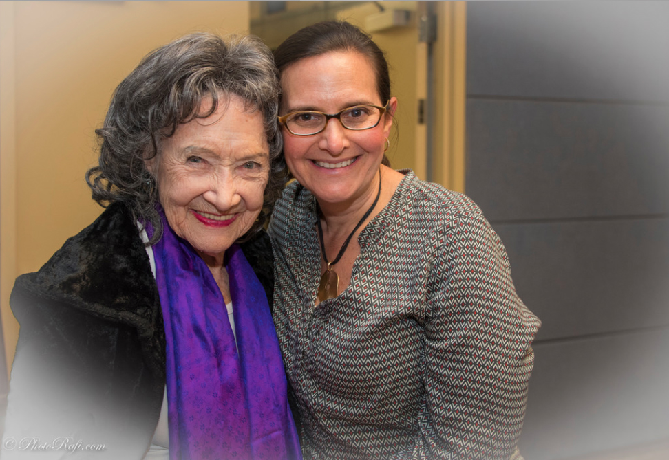 Event with 96-year-old Yoga Master Tao Porchon-Lynch and Teresa Kay-Aba Kennedy at JCC Mid-Westchester Event on April 27, 2015