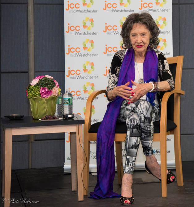 96-year-old Yoga Master Tao Porchon-Lynch at JCC Mid-Westchester Event on April 27, 2015