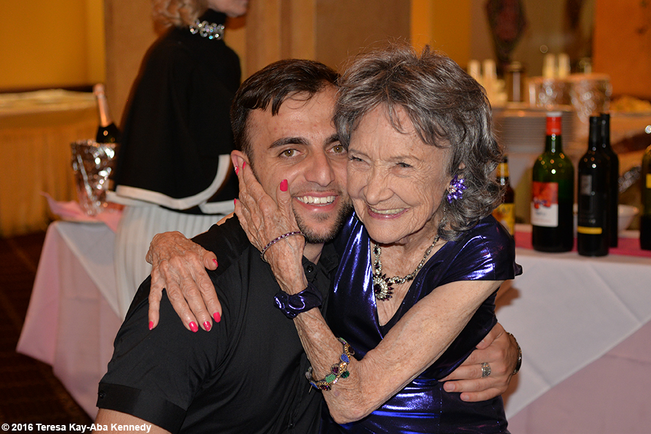 Vard Margaryan and Yoga Master Tao Porchon-Lynch at Tao's 98th Birthday Party in White Plains, NY - August 7, 2016