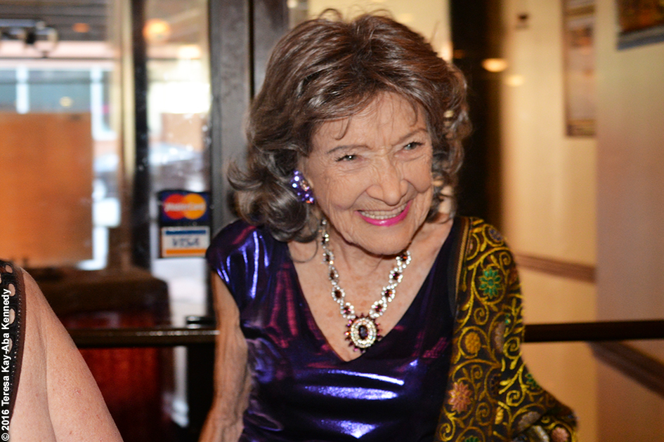 Yoga Master Tao Porchon-Lynch at her 98th Birthday Party at the Taj Palace Restaurant in White Plains, NY - August 7, 2016