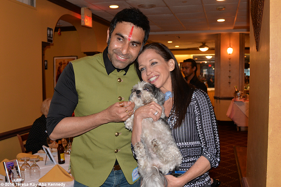 Sandip Soparrkar and Wendy Diamond at Yoga Master Tao Porchon-Lynch 98th Birthday Party in White Plains, NY - August 7, 2016