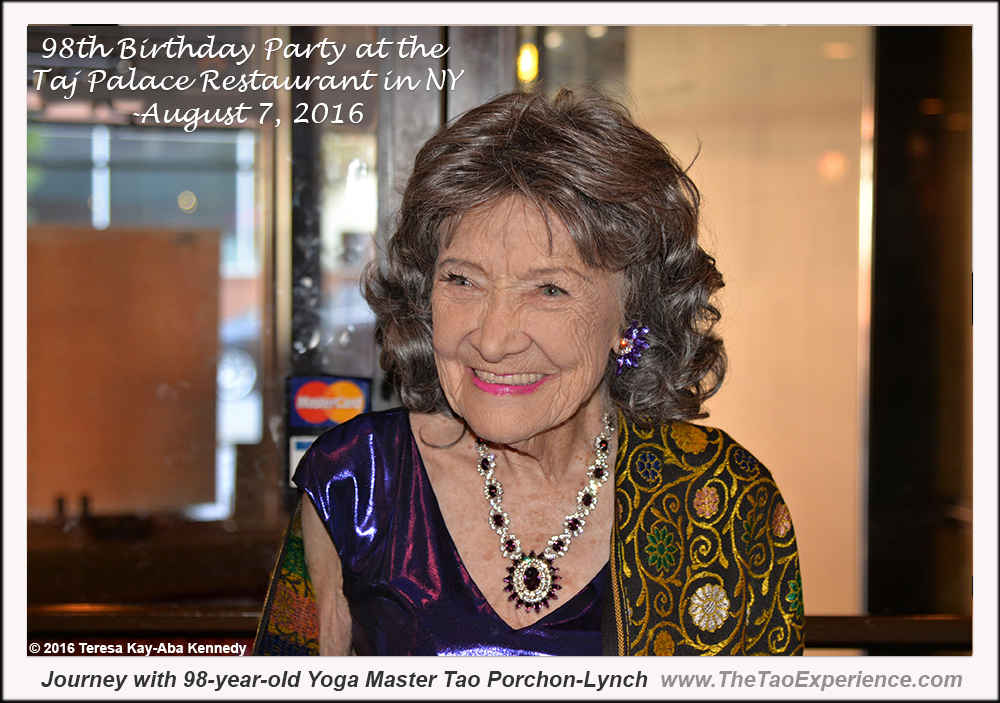Yoga Master Tao Porchon-Lynch at her 98th Birthday Party - August 7, 2016