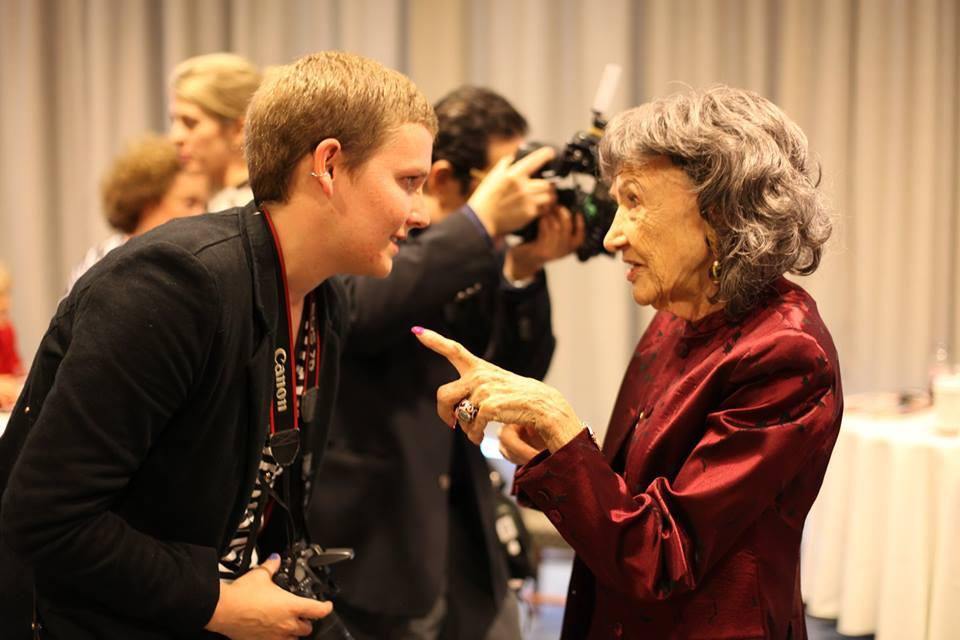 98-year-old yoga master Tao Porchon-Lynch at Women's Entrepreneurship Day at United Nations in New York - November 18, 2016