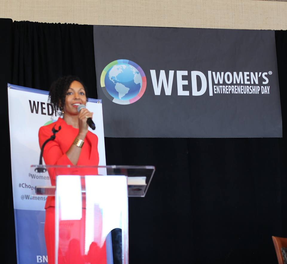 Teresa Kay-Aba Kennedy at Women's Entrepreneurship Day at the United Nations in New York - November 18, 2016