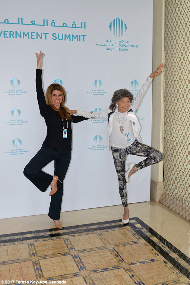 98-year-old yoga master Tao Porchon-Lynch at Mina A' Salam in Dubai for World Government Summit - February 13, 2017
