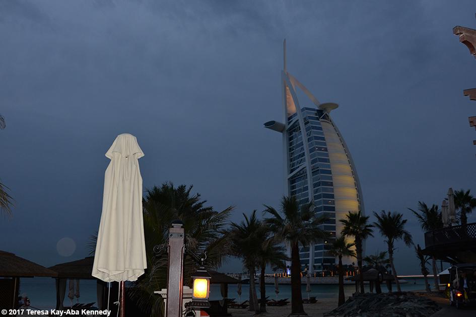 View of Burj Al Arab from the Jumeriah Al Naseem Resort in Dubai - February 12, 2017