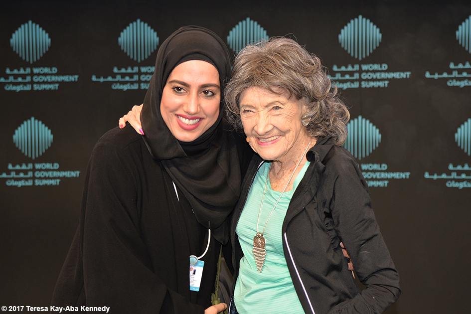 98-year-old yoga master Tao Porchon-Lynch at the World Government Summit in Dubai - February 14, 2017