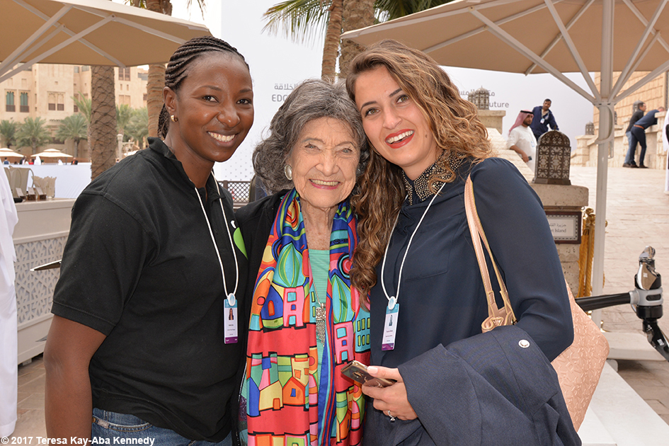 98-year-old yoga master at the World Government Summit in Dubai - February 14, 2017