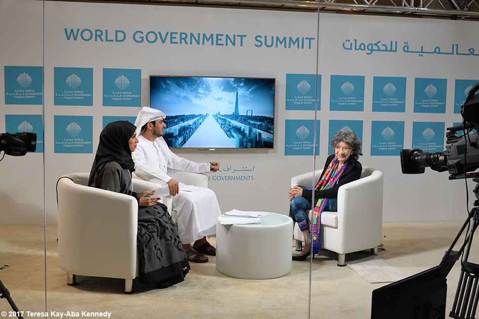 98-year-old yoga master Tao Porchon-Lynch at World Government Summit in Dubai - February 14, 2017