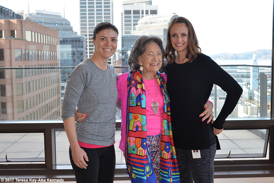 98-year-old yoga master Tao Porchon-Lynch in San Francisco at Athleta's corporate office - March 7, 2017