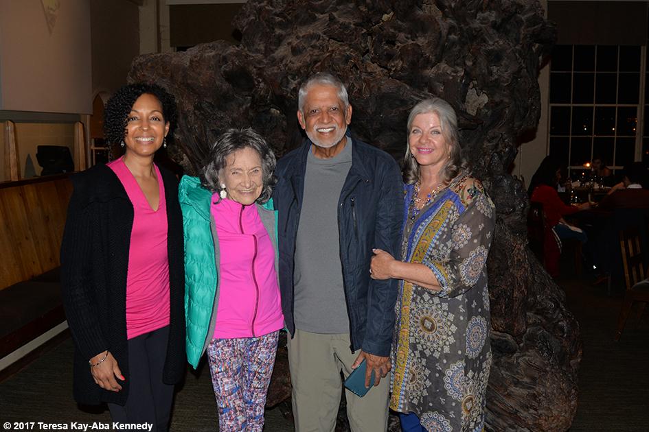 Teresa Kay-Aba Kennedy, Tao Porchon-Lynch, Slim Shekar and Pen Shekar in San Francisco - March 8, 2017