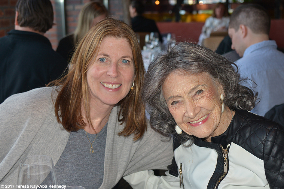 Nancy Green and 98-year-old yoga master Tao Porchon-Lynch in San Francisco - March 6, 2017