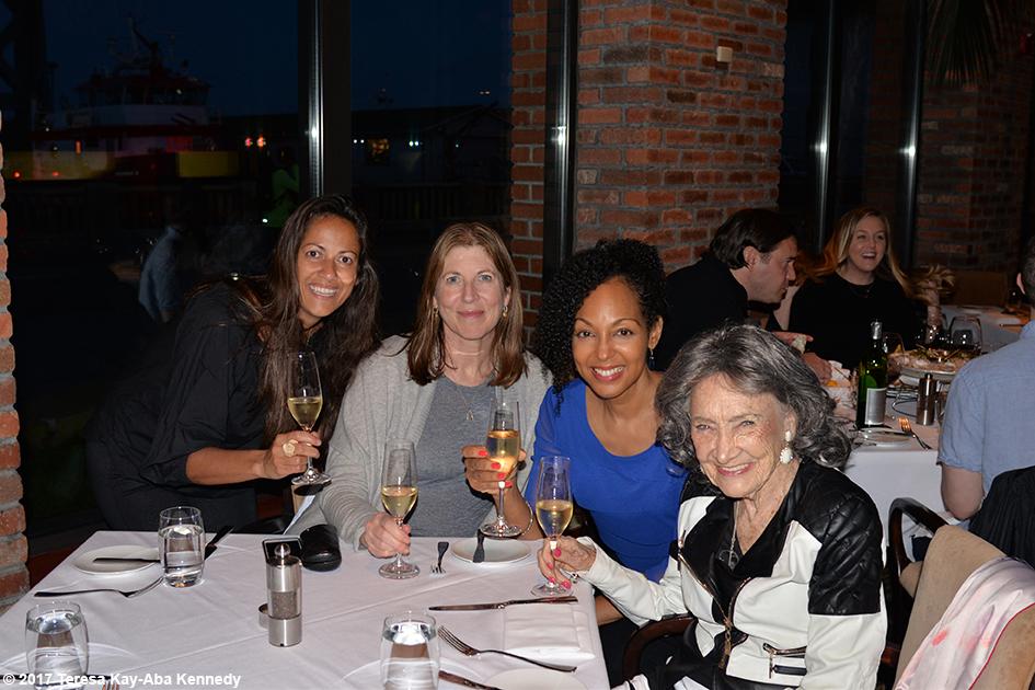 Sheila Shekar, Nancy Green, Teresa Kay-Aba Kennedy and 98-year-old yoga master Tao Porchon-Lynch in San Francisco - March 6, 2017