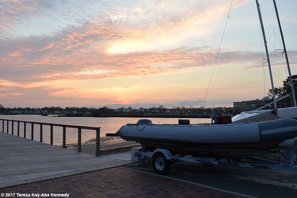 Sunset at Stamford Yacht Club - April 29, 2017