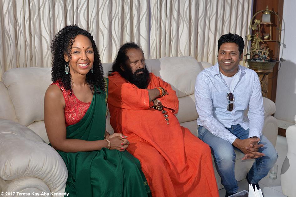Teresa Kay-Aba Kennedy and Pilot Baba in Bangalore, India - June 20, 2017