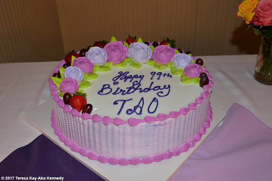Yoga Master Tao Porchon-Lynch's Cake at her 99th Birthday Party at the Mansion on Broadway in White Plains, NY - August 13, 2017