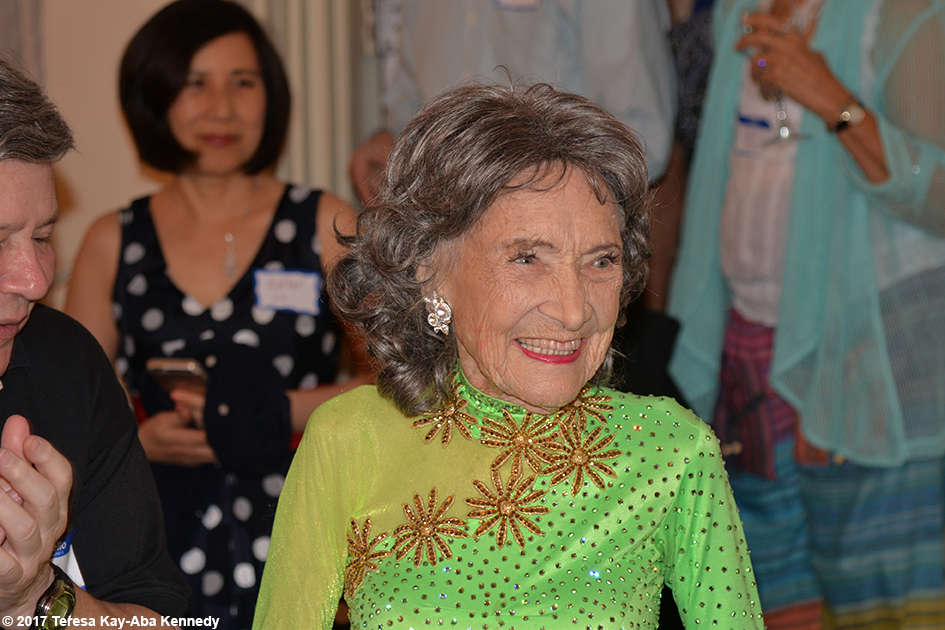 Yoga Master Tao Porchon-Lynch at her 99th Birthday Party at the Mansion on Broadway in White Plains, NY - August 13, 2017