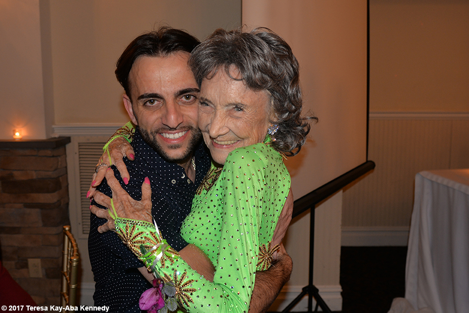 Vard Margaryan with Yoga Master Tao Porchon-Lynch at her 99th Birthday Party at the Mansion on Broadway in White Plains, NY - August 13, 2017