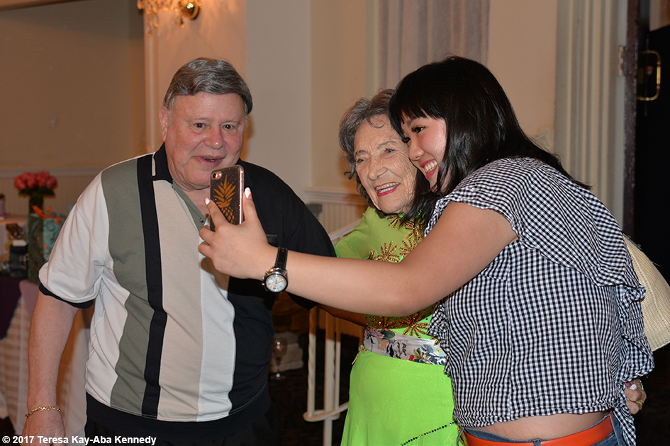 Ron Tvert and Iris Lee with Tao Porchon-Lynch at Tao's 99th Birthday Party at the Mansion on Broadway in White Plains, NY - August 13, 2017
