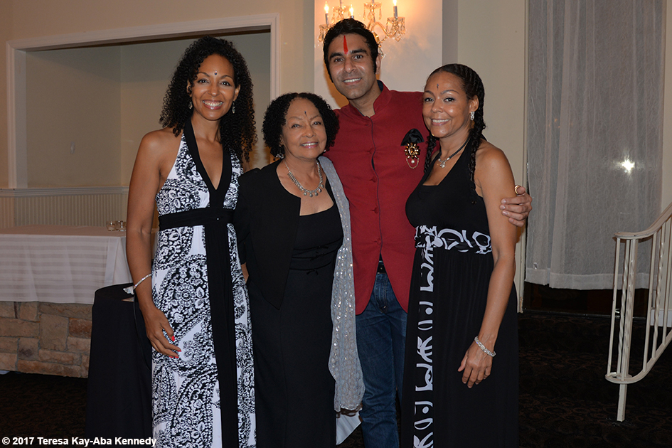 Teresa Kay-Aba Kennedy, Janie Sykes-Kennedy, Sandip Soparrkar and Sheila Kennedy Bryant at Tao Porchon-Lynch's 99th Birthday Party at the Mansion on Broadway in White Plains - August 13, 2017