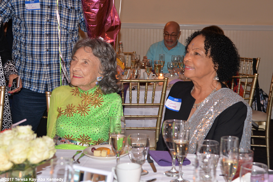 Janie Sykes-Kennedy and Tao Porchon-Lynch at Tao's 99th Birthday Party at the Mansion on Broadway in White Plains, NY - August 13, 2017