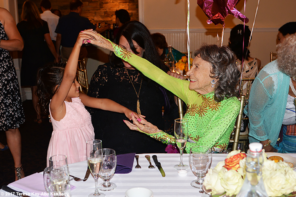 Natasha Tao Rajendran with Tao Porchon-Lynch at Tao's 99th Birthday Party at the Mansion on Broadway in White Plains, NY - August 13, 2017