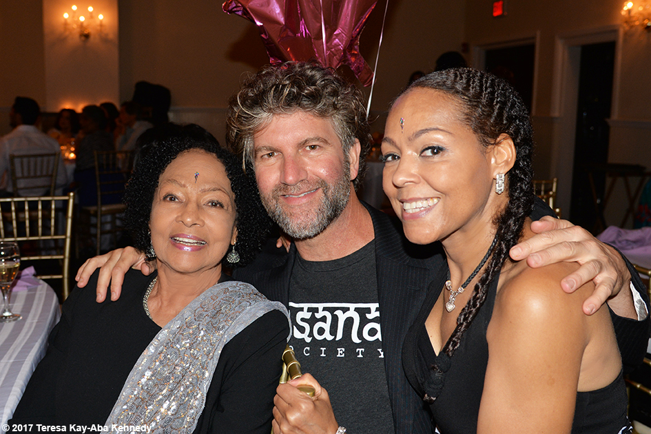 Janie Sykes-Kennedy, Robert Sturman and Sheila Kennedy Bryant at Tao Porchon-Lynch's 99th Birthday Party at Mansion on Broadway in White Plains, NY - August 13, 2017