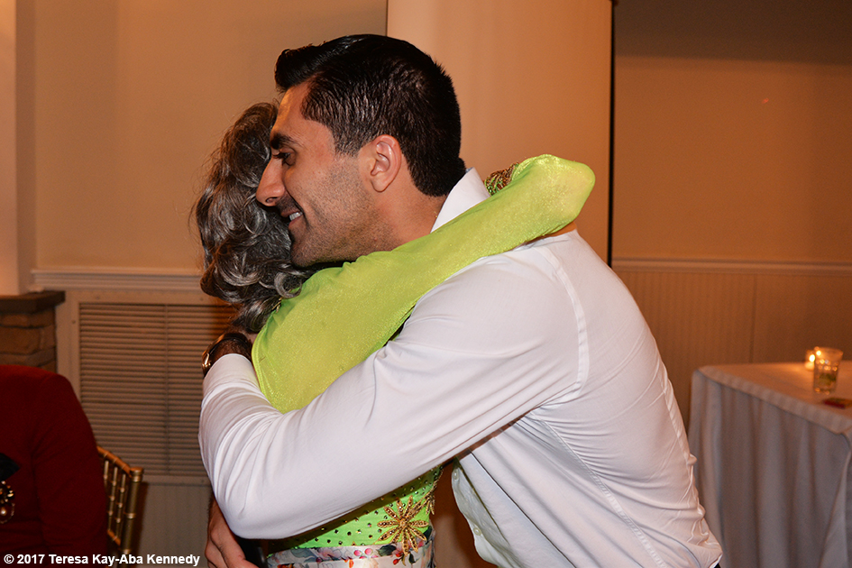 Arsen Sargsyan with Yoga Master Tao Porchon-Lynch at her 99th Birthday Party at the Mansion on Broadway in White Plains, NY - August 13, 2017
