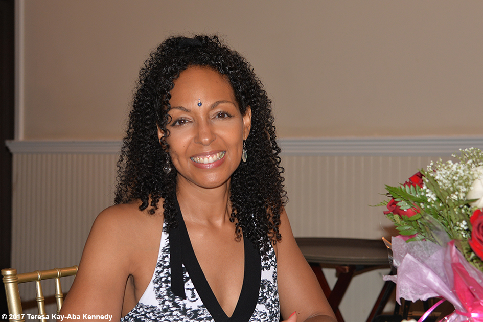 Teresa Kay-Aba Kennedy at Tao Porchon-Lynch's 99th Birthday Party at the Mansion on Broadway in White Plains, NY - August 13, 2017