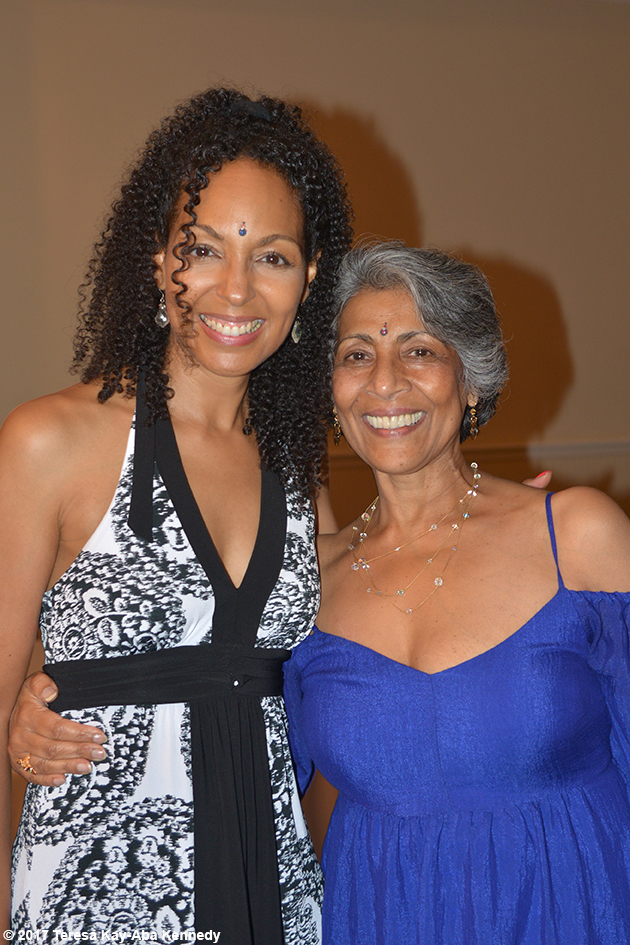 Teresa Kay-Aba Kennedy and Juliet Sitaram-Milo at Tao Porchon-Lynch's 99th Birthday Party at Mansion on Broadway in White Plains, NY - August 13, 2017