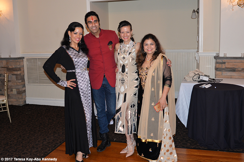 Sandip Soparrkar and ladies at Tao Porchon-Lynch's 99th Birthday Party at the Mansion on Broadway in White Plains - August 13, 2017