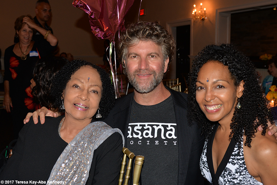 Janie Sykes-Kennedy, Robert Sturman and Teresa Kay-Aba Kennedy at Tao Porchon-Lynch's 99th Birthday Party at Mansion on Broadway in White Plains, NY - August 13, 2017