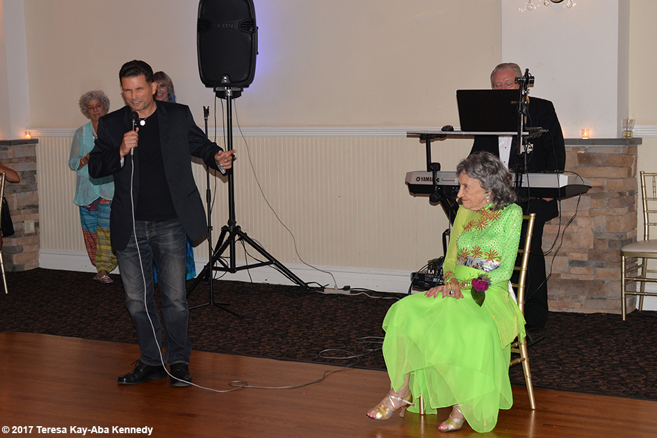 John Mirrione at Yoga Master Tao Porchon-Lynch's 99th Birthday Party at Mansion on Broadway in White Plains, NY - August 13, 2017