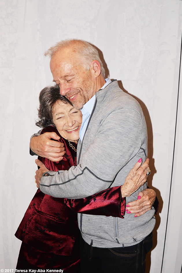 99-year-old yoga master Tao Porchon-Lynch and Rod Stryker at Lead With Love Conference in Aspen, Colorado – October 27, 2017