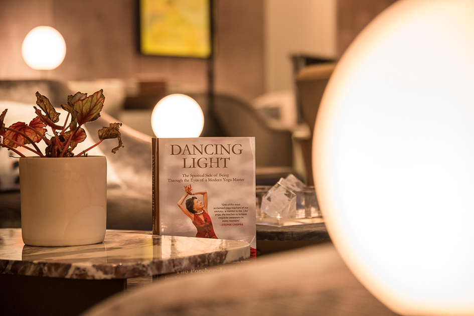 99-year-old yoga master Tao Porchon-Lynch's award-winning autobiography Dancing Light displayed at The James Hotel - October 3, 2017