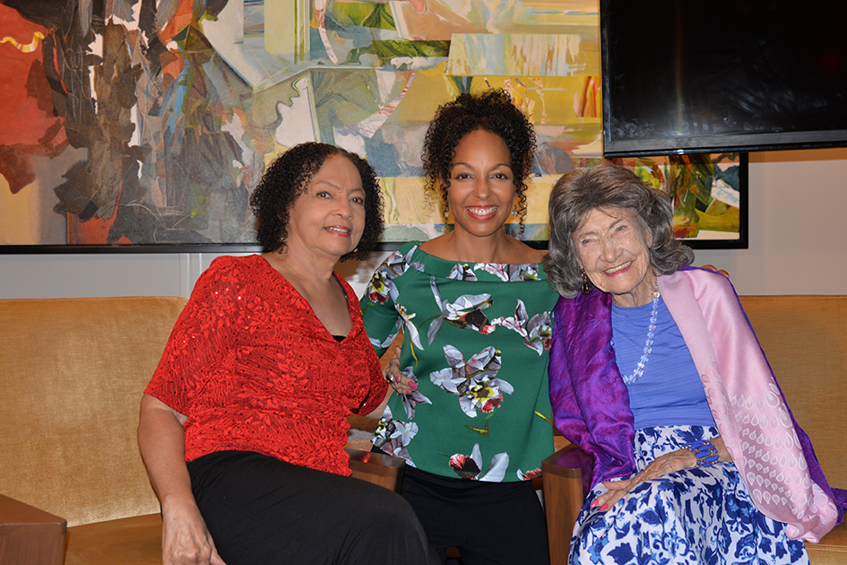 Janie Sykes-Kennedy, Teresa Kay-Aba Kennedy and 99-year-old yoga master Tao Porchon-Lynch at The James Hotel NoMad - October 3, 2017