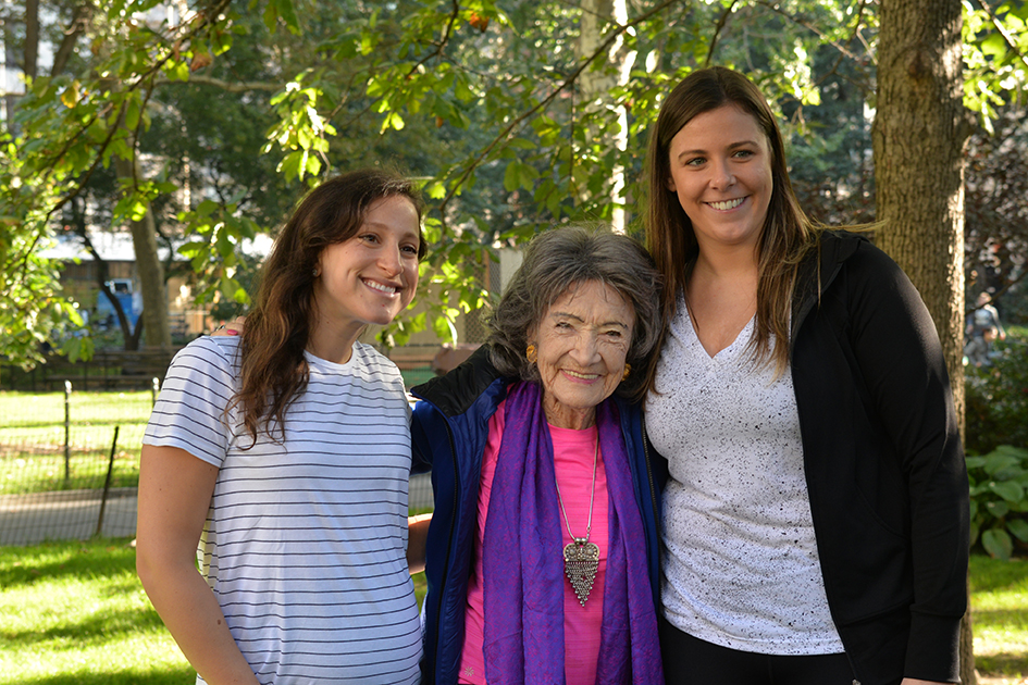 99-year-old Tao Porchon-Lynch after teaching yoga at Madison Square Park for The James Hotel NoMad - October 4, 2017
