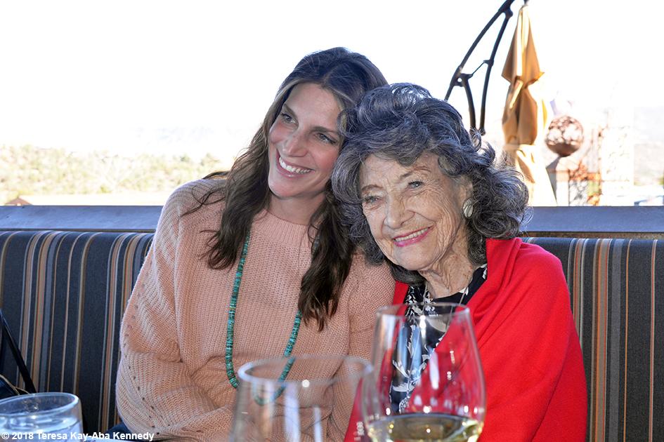 99-year-old yoga master Tao Porchon-Lynch at Mariposa Restaurant as part of the Sedona Yoga Festival - February 8, 2018