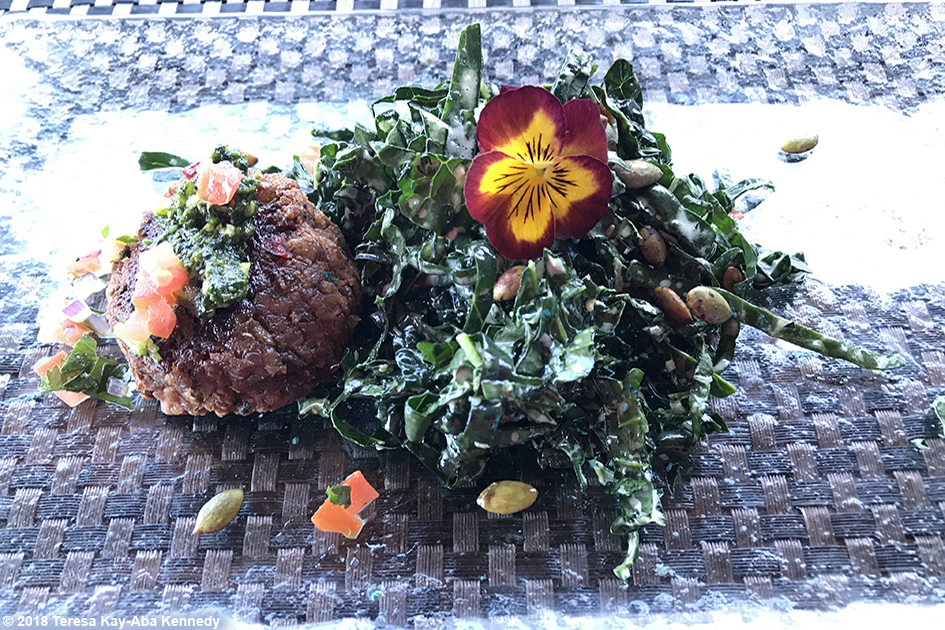 Food at Mariposa Restaurant for luncheon with 99-year-old yoga master Tao Porchon-Lynch as part of the Sedona Yoga Festival - February 8, 2018