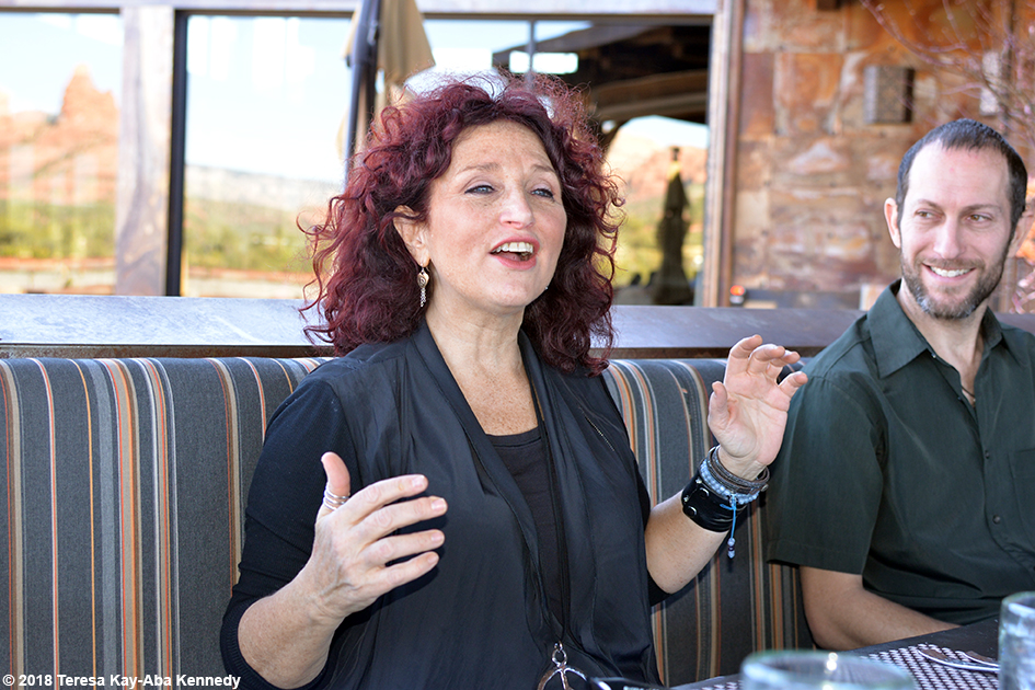 Valerie Romanoff at luncheon for 99-year-old yoga master Tao Porchon-Lynch at Mariposa Restaurant as part of the Sedona Yoga Festival - February 8, 2018