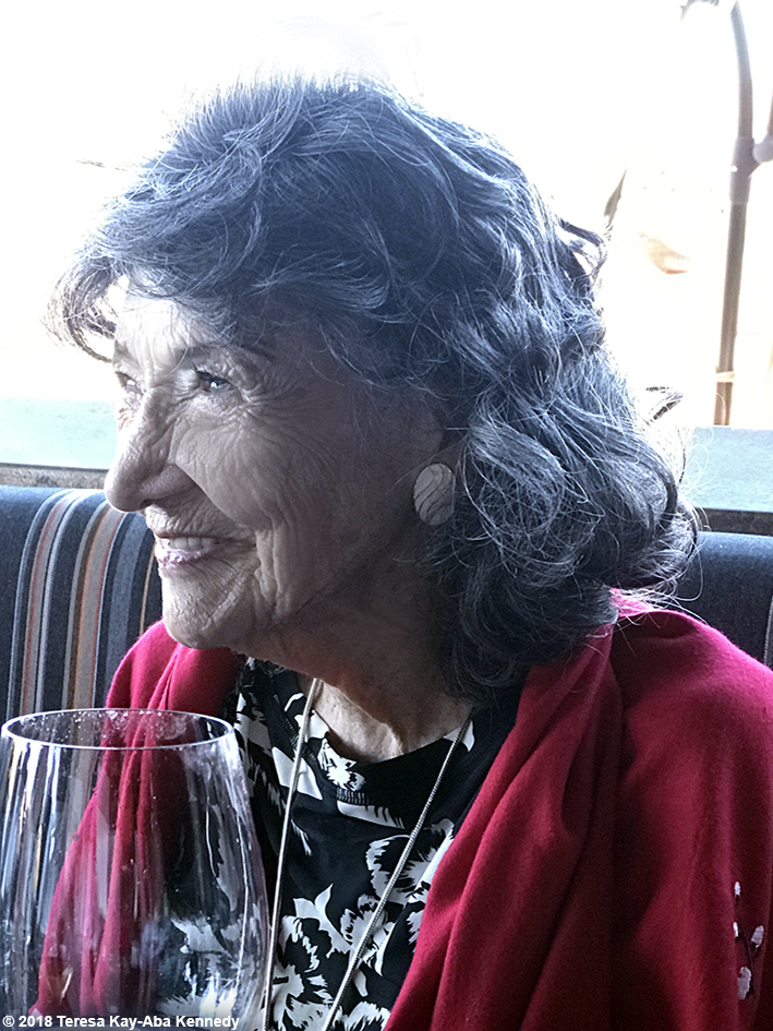 99-year-old yoga master Tao Porchon-Lynch at Mariposa Restaurant luncheon as part of the Sedona Yoga Festival - February 8, 2018