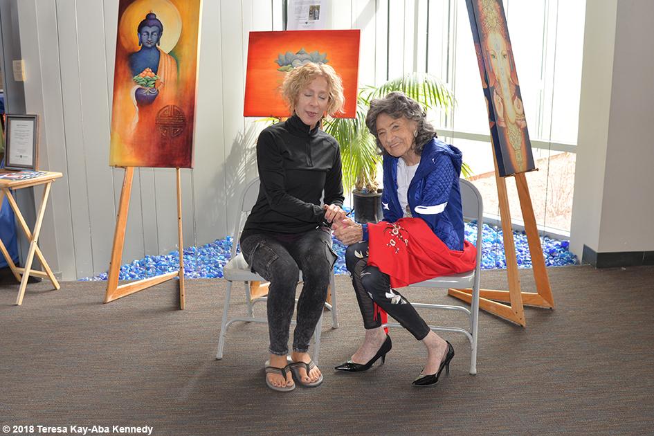 99-year-old yoga master Tao Porchon-Lynch at the Sedona Yoga Festival - February 10, 2018