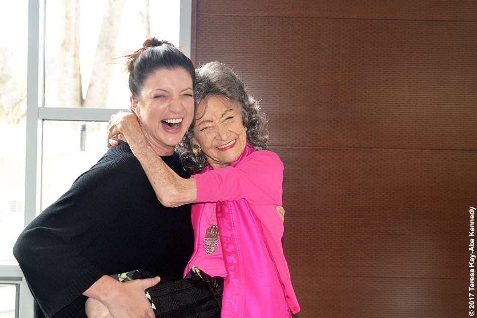 Gina Caputo and 99-year-old yoga master Tao Porchon-Lynch at Lead With Love Conference in Aspen, Colorado – October 26, 2017