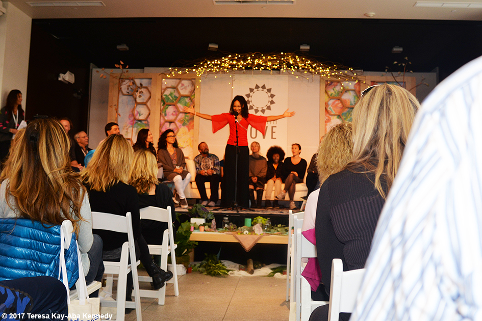 Teresa Kay-Aba Kennedy at Opening Session of Lead With Love Conference in Aspen, Colorado – October 26, 2017