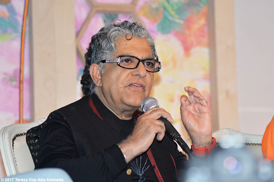 Dr. Deepak Chopra speaking at Lead With Love Conference in Aspen, Colorado – October 27, 2017