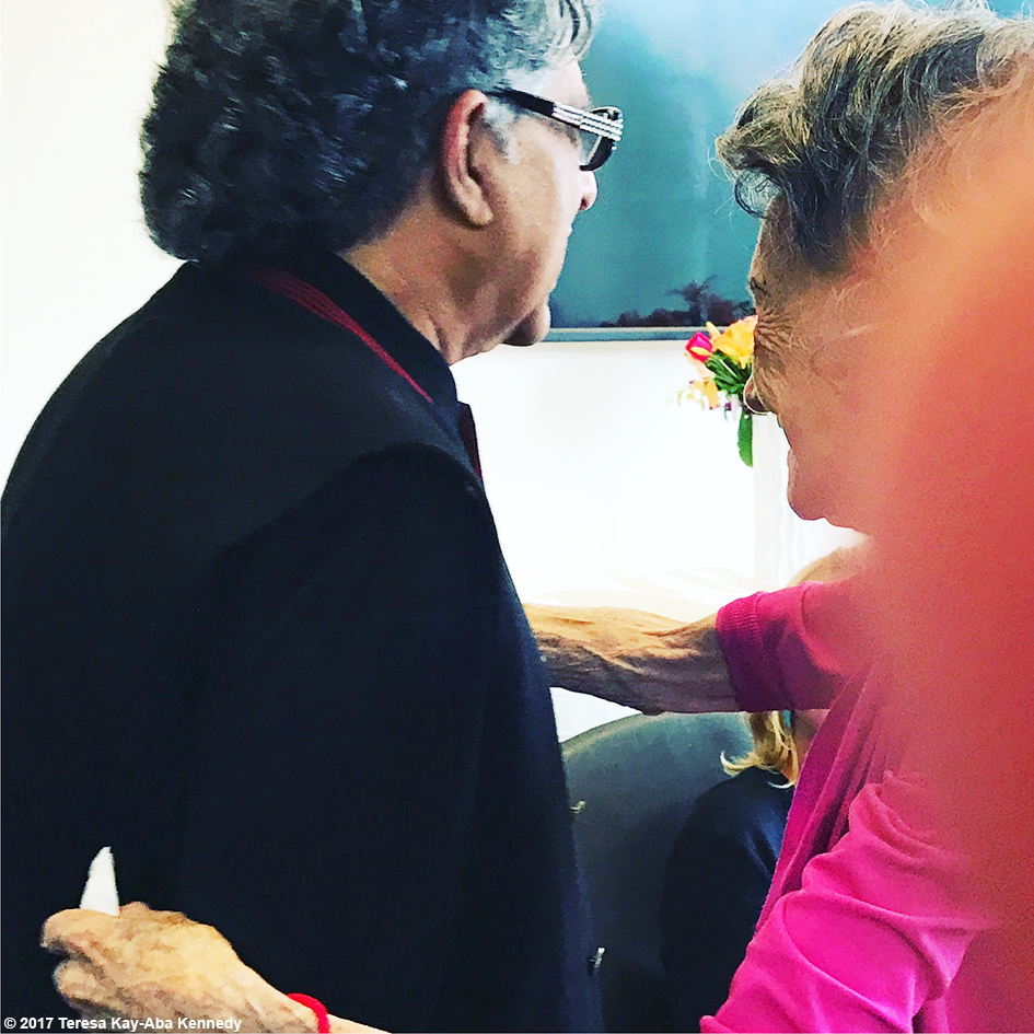 Dr. Deepak Chopra and 99-year-old yoga master Tao Porchon-Lynch at Lead With Love Conference in Aspen, Colorado – October 28, 2017